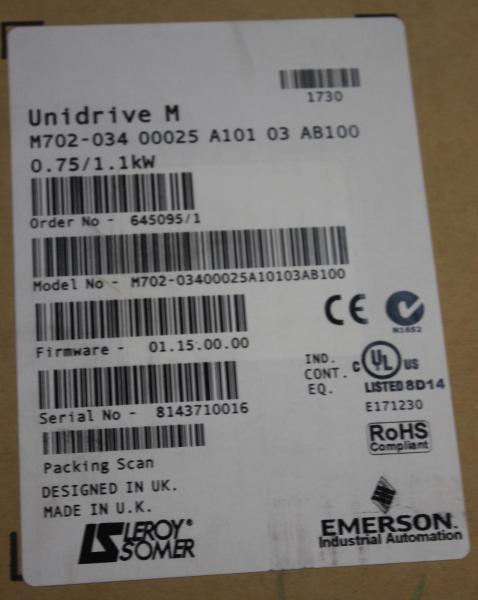 M702-034-00025A-10103AB100_Leroy Somer_Unidrive M