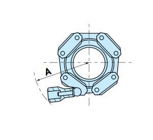 pinces de chaîne en aluminium