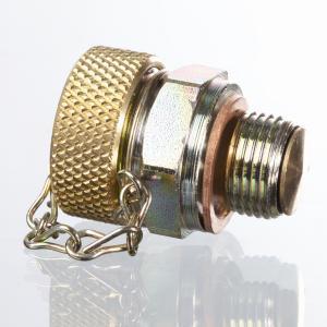 Oil drain screw with valve