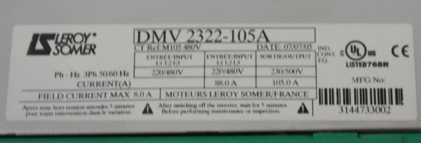 DMV 2322_Leroy Somer_Three-phase variable speed drives