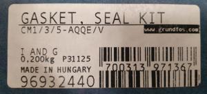 Kit Ref 96932440 Trim For Centrifugal Pump Cm3-2 Arge