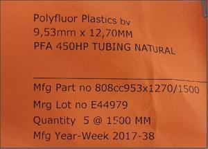 Pfa 450Hp Tuyauterie Naturel