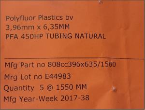 Pfa 450HP Piping Natural