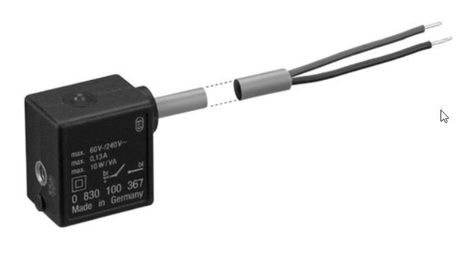 Capteur avec câble; sans embout de fil, étamé, 2 pôles; Résistant à la chaleur;