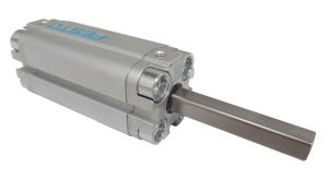 Compact cylinder double acting