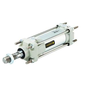 Double effect cylinders with tension rods