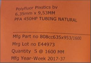 PFA 450HP TUBING NATURAL