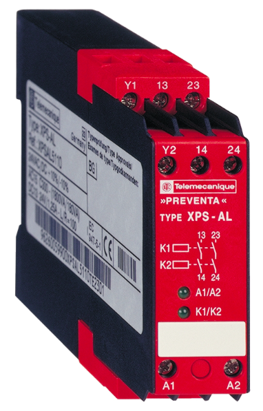 Two safety circuits, 24VAC / DC